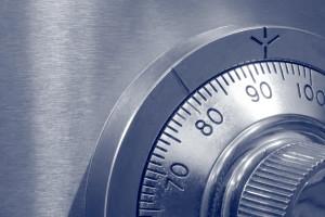 Closeup of Combination Safe Lock